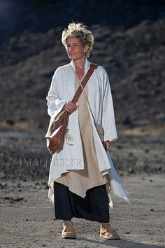amalthee-creations  Spring summer beige linen duster coat