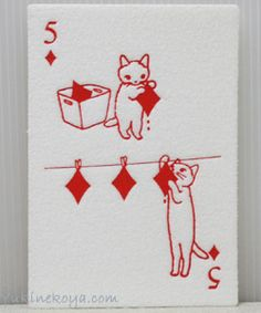 Cat cards: http://www.yukinekoya.com/nekozakka/it005/it005_item01_28.html