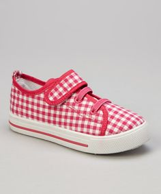 Take a look at this Fuchsia Gingham Sneaker by Mine on #zulily today!