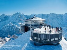 Schilthorn – Piz Gloria: Best view of Eiger, Mönch and Jungfrau! Also cool because one of the bond films was filmed here. Fantastic place to visit and eat a meal in the revolving restaurant!