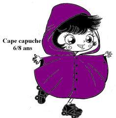 Patron de la cape avec capuche 6/8 ans avec explication : Patrons par izabelle