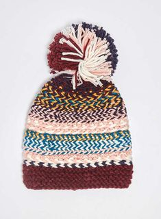 Multi Coloured Meadow Beanie Hat