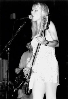 Kim Gordon is an American musician. Gordon, who started out as a visual artist, rose to prominence as the bassist, guitarist, and vocalist of alternative rock band Sonic Youth, which she formed with Thurston Moore in 1981.