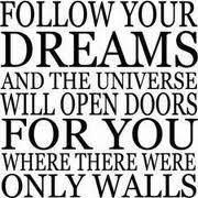 Words and Quotes for Walls----These beautiful, unique and inspirational vinyl wall quotes, sayings and words will bring a whole new dimension. Life Quotes Love, Dream Quotes, Quotes To Live By, The Words, Never Stop Dreaming, Dreaming Of You, Daily Word, Dream Wall, Just Dream