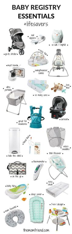 The moms have spoken! These are the best baby registry must haves, including all the baby registry essentials and lifesavers that you don't want to forget. The Mom Friend surveyed real moms to find out what baby gear and newborn necessities they love most so you can create the perfect registry. | Baby sleep | Baby Shower Gifts | What to Put on Baby Registry | Baby Registry Tips | Amazon Baby Registry items