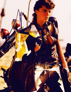 Daria Werbowy Mario Testino Vogue UK maaliskuuta 2009 Iron Maiden & nbsp; 06
