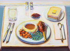 """Wayne Thiebaud   """"Drumstick Dinner""""   2012"""