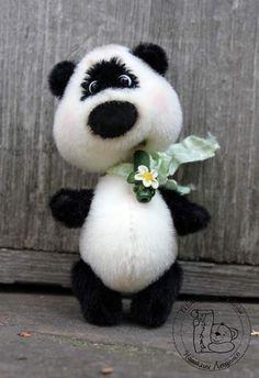 Mini Bear panda Chun by Tashka's Bears