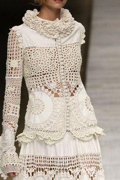 Letras e Artes da Lalá: Blusas de crochê (fotos: pinterest)