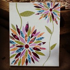 Glue Pieces pf old scrap book paper onto a blank canvas then paint mod podge…