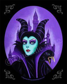 PRINT Pocket Full of Posiez  Tribute to Maleficent by Posiez