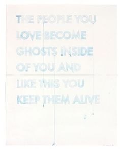 "work by Robert Montgomery - from ""Watercolours"" - view of Love"