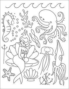 Under the Sea embroidery pattern