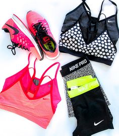 Nike workout outfit.