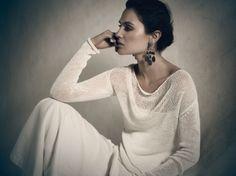 Waterfall collar top (Sarah Pacini).