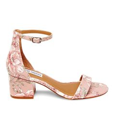 Steve Madden Irenee Printed Fabric Sandal - Pattern/Print Ankle Strap Heels, Ankle Straps, Short Heels, High Heels, Prom Heels, Fashion Heels, Dress With Boots, Girls Shoes, Wedding Shoes