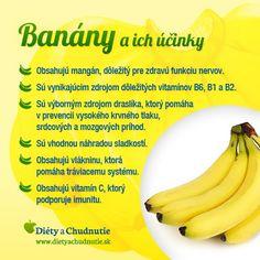 Infografika - banány a ich účinky