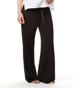 Another great find on #zulily! Black My Darling Maternity Lounge Pants - Women by HOTmilk #zulilyfinds
