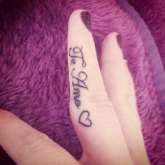 love tattoos I would love to get this tattoo on the side of my finger.