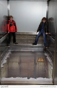 Elevator Illusion via Gizmodo UK from www.lolwall.co