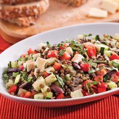 Salade de lentilles à la méditerranéenne - Recettes - Cuisine et nutrition - Pratico Pratique