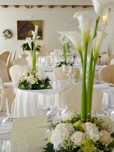 Bat Mitzvah Centerpiece White Calla Lily In Clear Vases Batmitzvah Southcarolinaevents