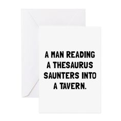 Thesaurus Saunters Greeting Cards