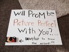 Answered my prom date like this!