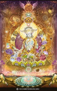 White Tara: The goddess of universal compassion, Tara represents virtuous and enlightened action. It is said that her compassion for living beings is stronger than a mother's love for her children. She also brings about longevity, protects earthly travel, and guards her followers on their spiritual journey to enlightenment.