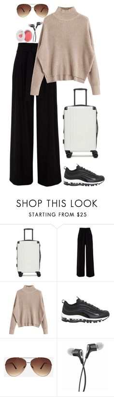 """""""Let's get away from this place and explore something new"""" by chase-stars ❤ liked on Polyvore featuring CalPak, NIKE, Ashley Stewart and 100% Pure"""