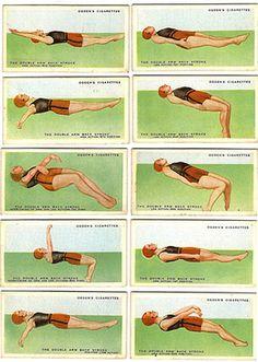 Ogden Swimming Instruction Cards, 1930s.