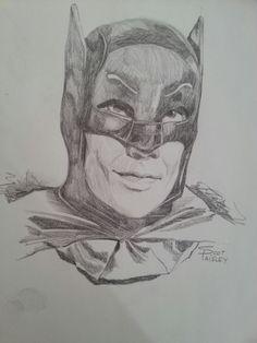 A pencil sketch I did of Adam West.