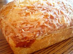Simple and Delicious Cheese Bread -- it's not a yeast bread, it's a batter bread.  How good does that sound?  Woohoo!!!!!