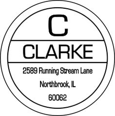 image of a Clarke Initial Border Address Stamp