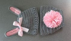 Baby Bunny Hat with Bunny Tail Diaper Cover by AngelinasCrafts4U, $28.00