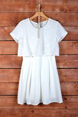 Little White Lie, dress, white, comfy, flowy, comfortable, cute, casual, fashion, fashionable, sleeves, clothes