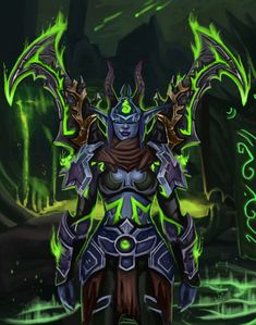 Hello everyone, this time we venture beyond The Brigade and get to meet another interesting character that roams the world of Azeroth. Slight, The Demon Hunter Warcraft Legion, Warcraft Art, World Of Warcraft, Race Night, Night Elf, Fantasy Rpg, Dark Fantasy, Fantasy Artwork, Illidan Stormrage