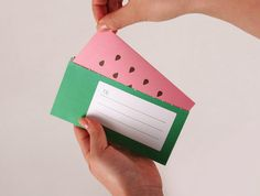 Watermelon fruit card by amazepaper