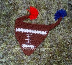 Posh Pooch Designs Dog Clothes: Football Dog Bandanna - Free Crochet Pattern | Posh Pooch Designs