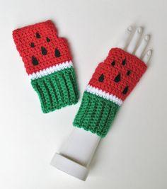 Wassermelone Pulswärmer Fingerlose Handschuhe von Xasper8ing