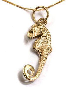 Ethical Fair Trade Gold Seahorse Pendant