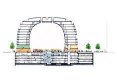 MVRDV-designed markthal housing + market hall opens in rotterdam Rotterdam Architecture, Architecture Office, Futuristic Architecture, Amazing Architecture, Landscape Architecture, Architecture Design, Rotterdam Market, Rotterdam Netherlands, Parking Plan