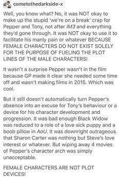 THANK YOU also I didn't like Vis/Wanda because she's one of the only female characters left who isn't in a romance plot. Leave her alone.