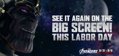 The Avengers re-releasing in theaters for Labor Day weekend!