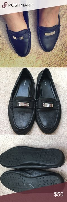 Coach flats Coach leather flats , worn few times very soft and comfortable Coach Shoes Flats & Loafers