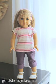 Doll Clothes - Shirt for American Girl Doll. Free pattern is here: http://www.pixiefaire.com/collections/free-doll-clothes-patterns/products/free-t-shirt-18-doll-clothes