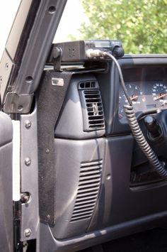 CB Radio Dash Mount, 97-06 Jeep TJ, LJ Wranglers - $29.99