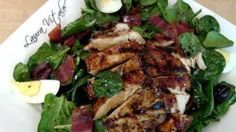 Spinach and Grilled Chicken Salad Recipe - Laura in the Kitchen - Internet Cooking Show Starring Laura Vitale