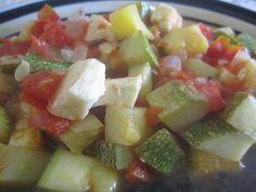 Calabacitas con jitomate  Incluida en Recetas fáciles y saludables para mamás ocupadas  www.CocinandoConRoxy.com