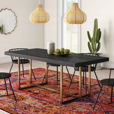 Black Dining Room Table, Pine Dining Table, Concrete Dining Table, Trestle Dining Tables, Solid Wood Dining Table, Modern Dining Table, Dining Room Design, Table And Chairs, Dining Nook
